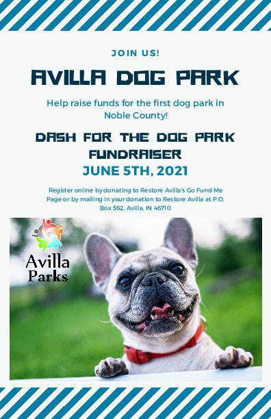 5K Walk 2021 Avilla Dog Park Fundraiser