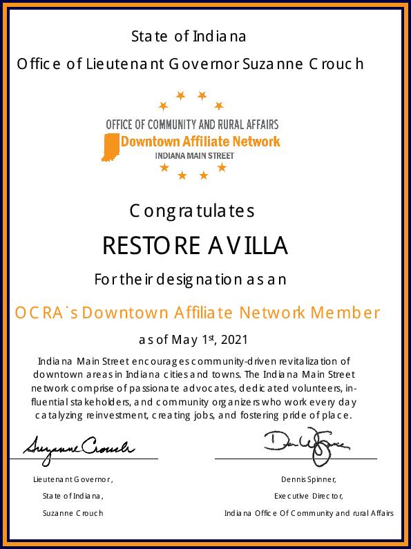 2021 Restore ODAN Certification
